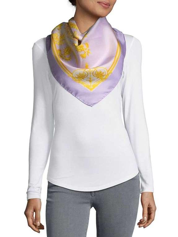 Foulard Printed Silk Scarf