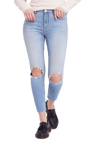 High Waist Ankle Skinny Jeans FREE PEOPLE